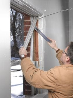 Window Installation Process - Removing the old window frame